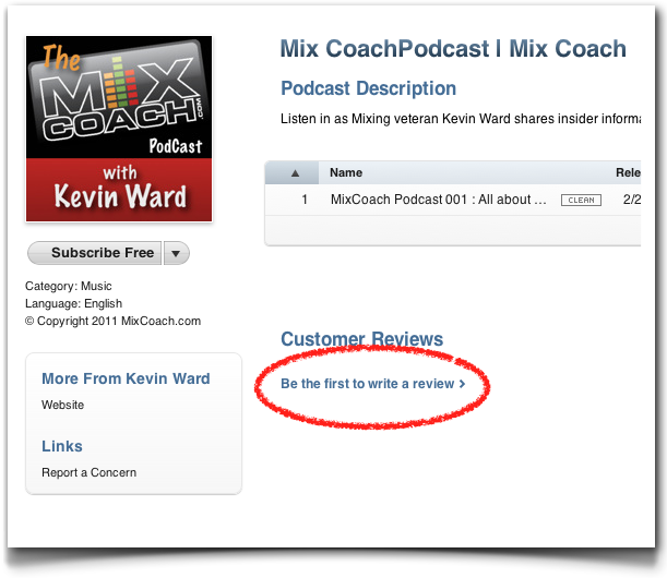 MixCoach Podcast review